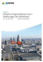 Programm - Berufsgenossenschaftliche Unfallklinik Frankfurt am Main