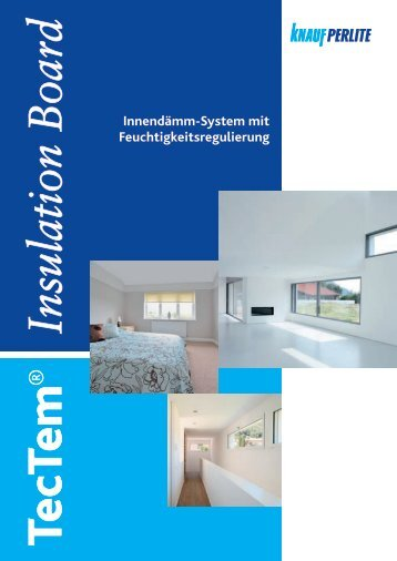TecTem® Insulation Board Indoor - Farben Horstmann