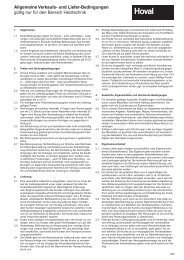 Allgemeine Verkaufs- und Liefer-Bedingungen gültig nur für ... - Hoval
