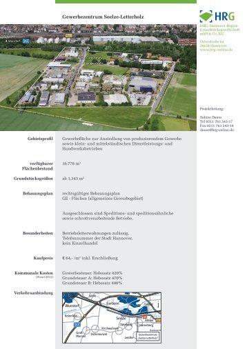 Gewerbezentrum Seelze-Letterholz - Stadt Seelze
