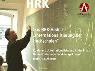 Internationalisierung der Hochschulen - Hochschulrektorenkonferenz