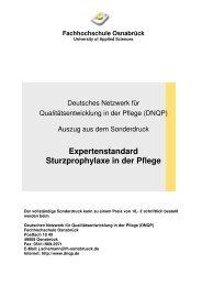 Expertenstandard Sturzprophylaxe in der Pflege - BALK-Bayern