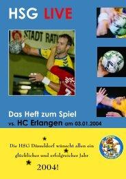 Das Heft zum Spiel - HSG Düsseldorf