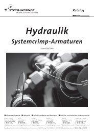 Katalog Hydraulik Systemcrimp-Armaturen - Steyr-Werner