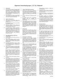 C-CIT Allgemeine Verkaufsbedingungen Deutsch 01.01 ... - C-CIT AG