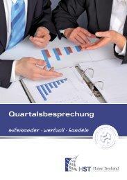 Flyer Quartalsbesprechung - HST Hanse Treuhand