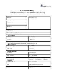 Arbeitgeberstammblatt - HST Hanse Treuhand