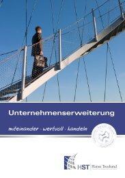 Flyer Unternehmenserweiterung - HST Hanse Treuhand