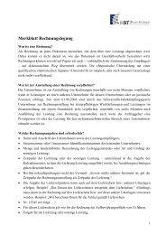 Merkblatt Rechnungslegung - HST Hanse Treuhand