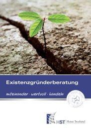Flyer Existenzgruendung - HST Hanse Treuhand