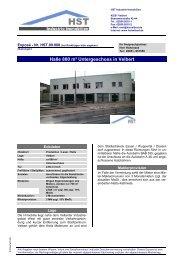 Halle 800 m² Untergeschoss in Velbert - HST Industrie - Immobilien ...