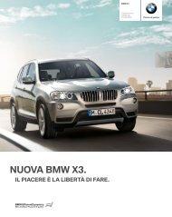 Gli optional della BMW X3 - Cencini SA