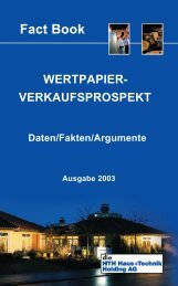 Fact Book - HTH AG