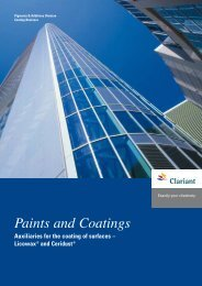 Paints and Coatings Auxiliaries for the coating of surfaces - Clariant