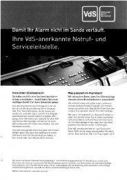 und Serviceleitstelle. - Huber Schließtechnik GmbH & Co. KG