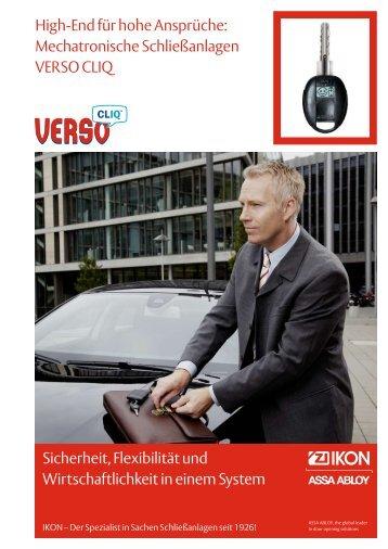 Mechatronische Schließanlagen VERSO CLIQ Sicherheit ... - infothek