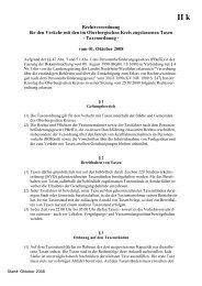 Taxenordnung für den Oberbergischen Kreis