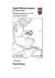 Begründung zum Bebauungsplan Nr. 44D - Hückeswagen