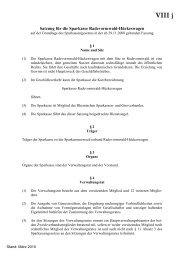 Satzung Sparkasse Radevormwald/Hückeswagen