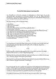 Jahreshauptversammlung 2006 - Hückeswagen