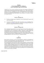 Satzung für den Denkmalbereich