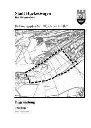 Begründung zum Bebauungsplan - Hückeswagen