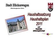 Haushaltsplan 2011 - D5 - Ratssitzung beschlossen ... - Hückeswagen