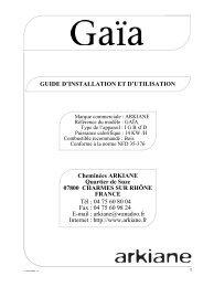 GUIDE D'INSTALLATION ET D'UTILISATION Cheminées ... - Batifeu