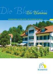 Infoblatt 10 2010 - Altersheim und Pflegeheim Blumenau Bauma