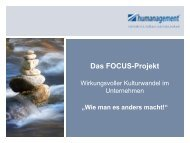 Das FOCUS-Projekt Wirkungsvoller Kulturwandel ... - Humanagement