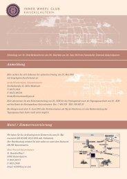 Hotel / Zimmerreservierung Anmeldung - Human Solutions GmbH