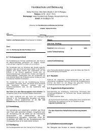 Hundebetreuungs Vertrag - Stefan Kirchner