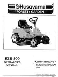 om, rer800, 1992-12, tractors/ride mowers, forest ... - Husqvarna