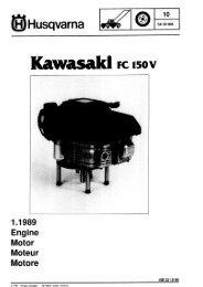 IPL, Kawasaki FC 150 V, 1989-03, Lawn Mower, Engine - Husqvarna