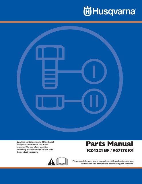 RZ4221 BF / 967176101 Parts Manual - Husqvarna