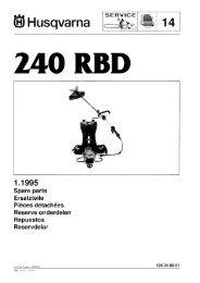 IPL, 240 RBD, 1995-01, Brush Cutter - Husqvarna