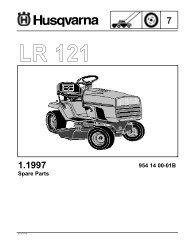 IPL, LR 121, 954140001B,1997-12, Ride Mower - Husqvarna