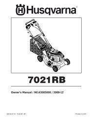 OM, 7021 RB, 96143005000, 2008-12, Walk Mower - Husqvarna