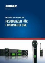 Informationen zur Nutzung von Frequenzen - Huss Licht & Ton