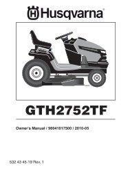 om, gth2752tf, 2010-05, tractors/ride mowers ... - Husqvarna