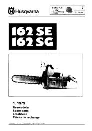 IPL, 162 SE, 162 SG, 1979-01, Chain Saw - Husqvarna