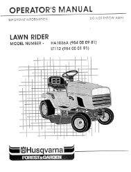 om ,ha1036a, lt112, 1990-07, tractors/ride mowers - Husqvarna