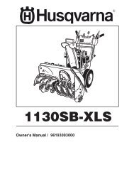 OM, 1130 SB XLS, 96193003000, 2008-09, Snow ... - Husqvarna