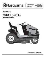 OM, 2348 LS, (CA), 96043004900, 2008-03, Ride Mower - Husqvarna