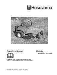 OM, Z 4818, 2004-09, Ride Mower (Turf Care) - Husqvarna