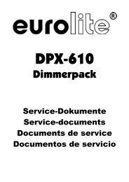 Eurolite DPX-610 MP Dimmer Service Dokument - Huss Licht & Ton
