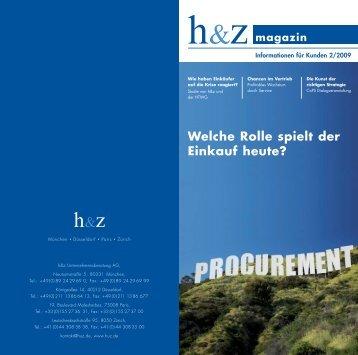 Magazin-Artikel: Welche Rolle spielt der Einkauf heute - Huz.de