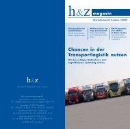Magazin-Artikel: Chancen in der Transportlogik nutzen - Huz.de