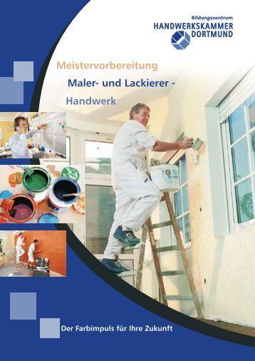 info flyer umschulung zum maler und lackierer diakoniewerk