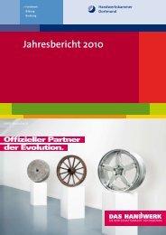 Jahresbericht 2010 -  Handwerkskammer Dortmund